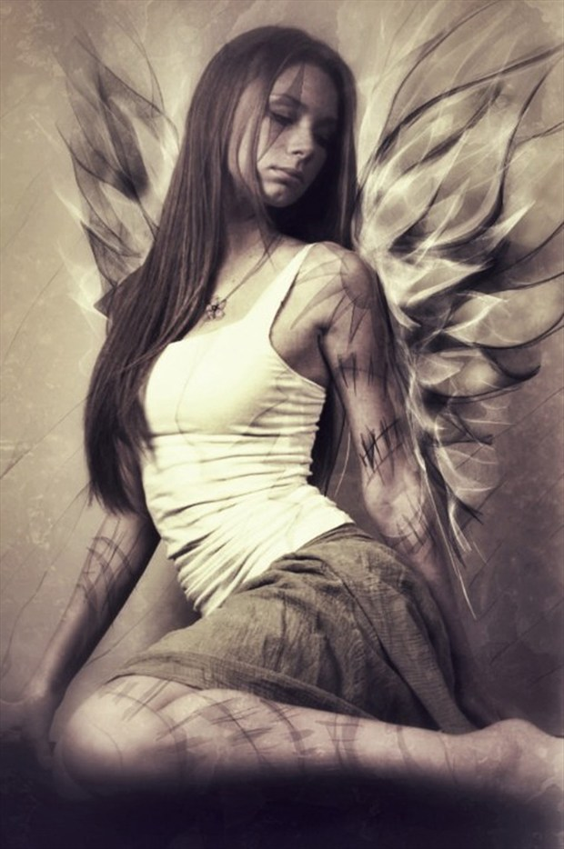 Brittany Angel Vintage Style Photo by Artist David Bollt