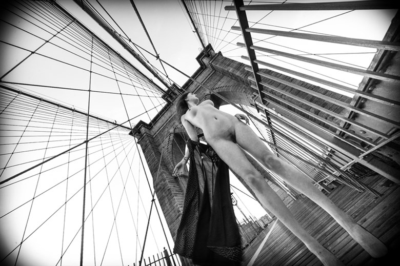 Brooklyn Bridge  Artistic Nude Photo by Model Johannsdottir