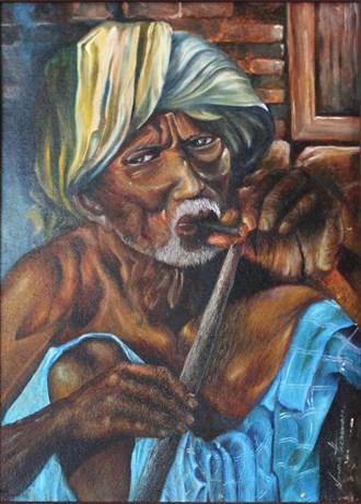 Burning Life Painting or Drawing Artwork by Artist Nuwan Thenuwara
