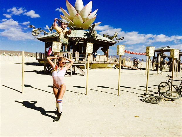 Burning man Nature Artwork by Model Mia Love