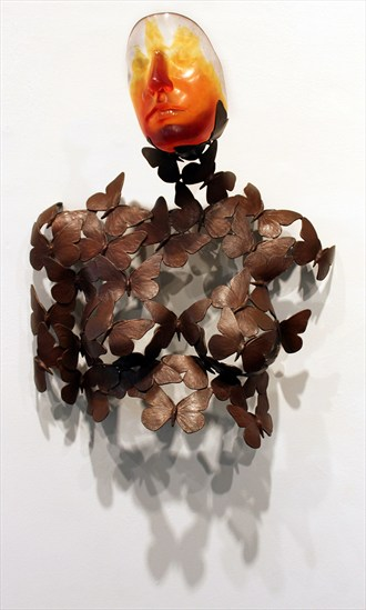 Butterflies are Free Artistic Nude Artwork by Artist Kim Perrier