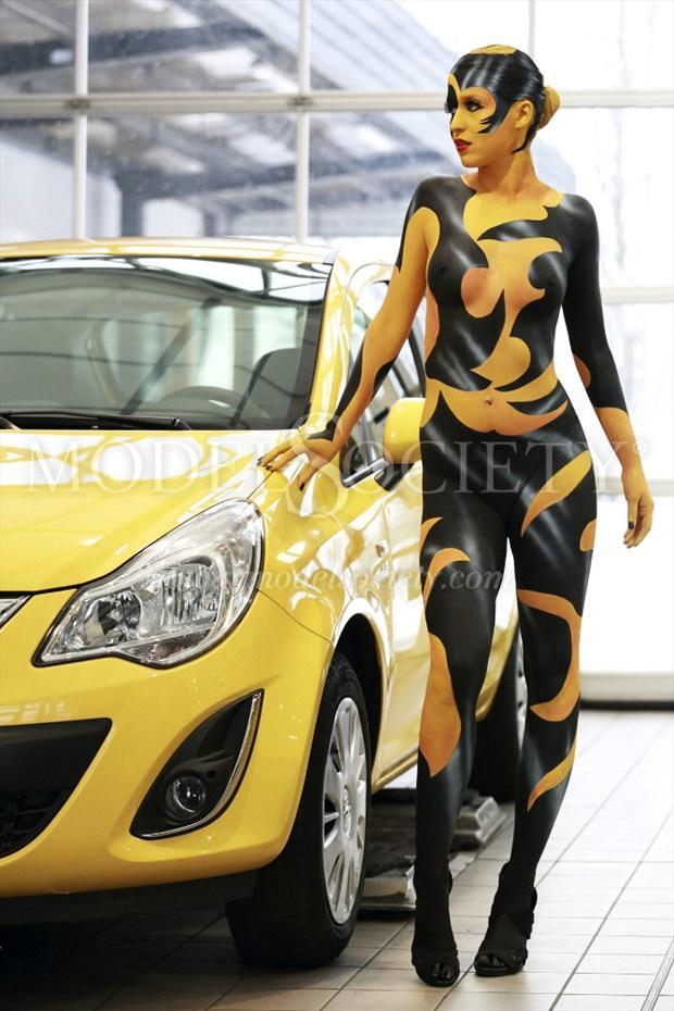 CAR SHOW I Fantasy Artwork by Artist Bodypaint D%C3%BCsterwald