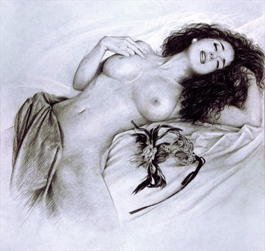 CARESSING DREAM Artistic Nude Artwork by Artist Girotto Walter