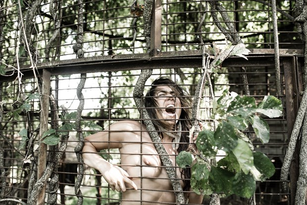 Caged Artistic Nude Photo by Photographer DaveMylesPhotography