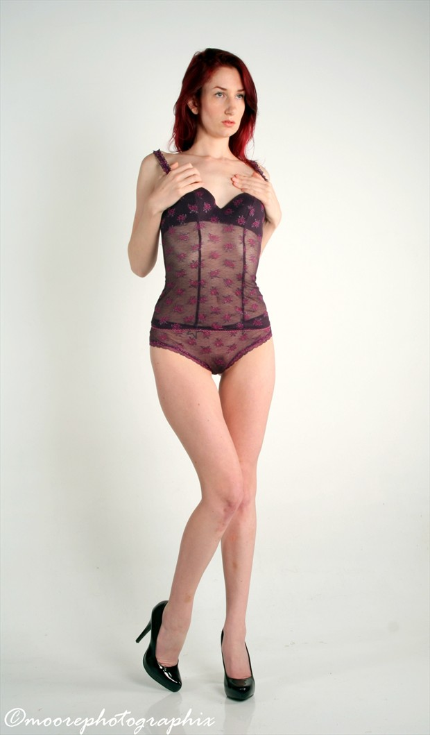 Caitlin In Purple Lace Lingerie Photo by Photographer MoorePhotoGraphix