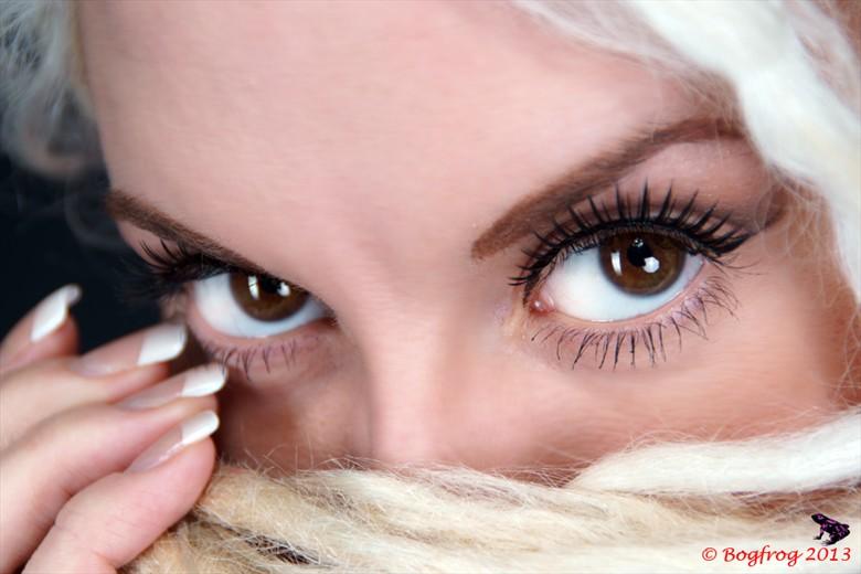 Captivating Eyes Close Up Photo by Photographer Bogfrog