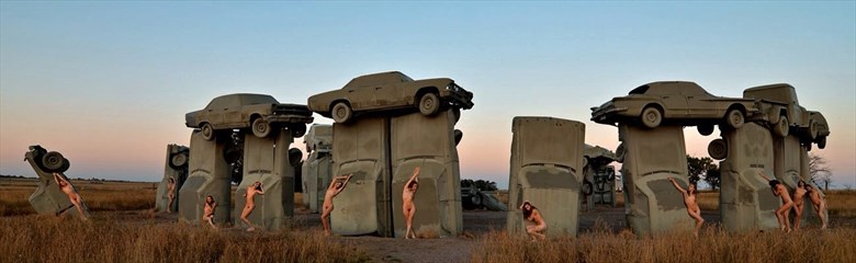 Carhenge Artistic Nude Photo by Photographer DaveL
