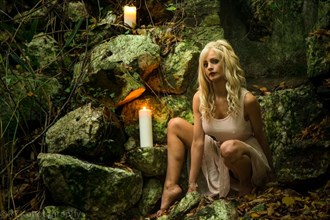 Cave girl Nature Photo by Model Carmen model