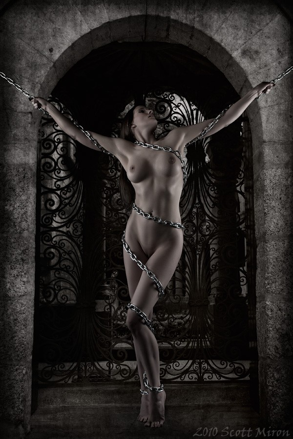 Chained Artistic Nude Photo by Model Mila