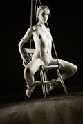 Chair suspension Erotic Photo by Photographer John Tisbury
