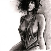 Charcoal Figure Figure Study Artwork by Artist AnthonyNelsonArt