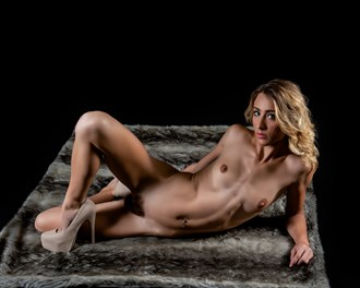 Chelsea Jo on the Faux Fur... Artistic Nude Photo by Photographer CC Art Nudes