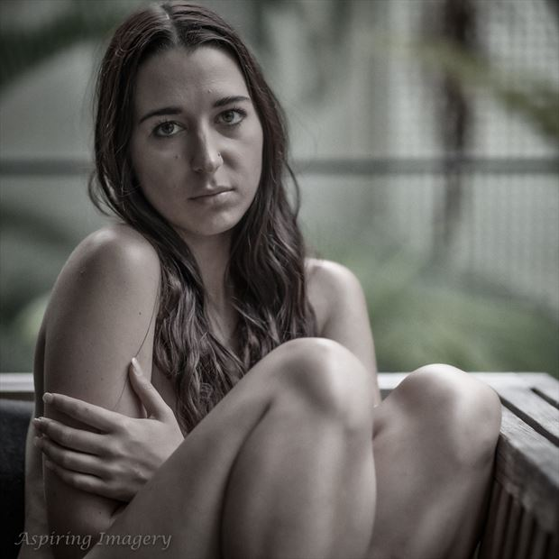 Cheyanne on the Porch Implied Nude Photo by Photographer Aspiring Imagery