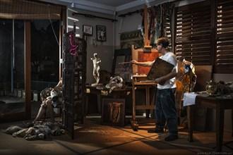 Chiaroscuro Studio Lighting Artwork by Photographer Alec Dawson