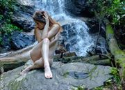 Christelle at Falls 1 Nature Photo by Photographer Candidvision