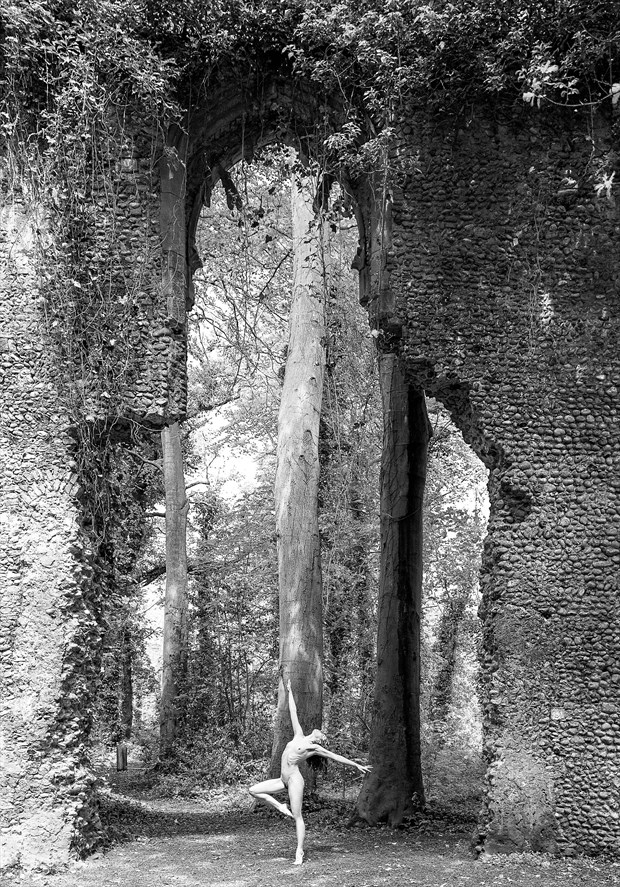 Church Ruins   Dance To The Deity Artistic Nude Photo by Photographer Richard Maxim