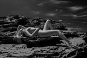 Cliff's Edge Artistic Nude Photo by Model Sylph Sia