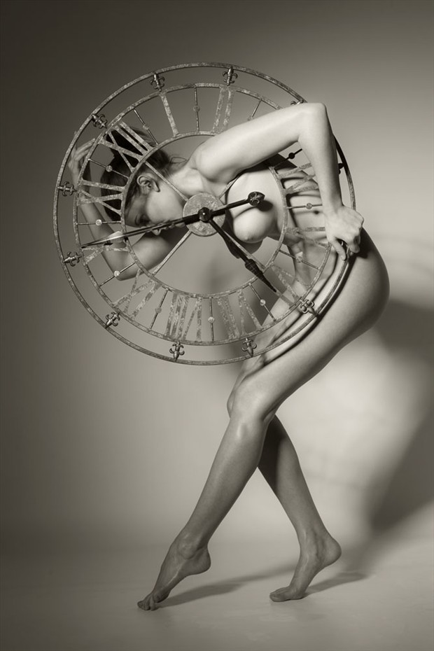 Clock Artistic Nude Photo by Photographer John Evans