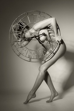 Clock Artistic Nude Photo by Photographer John Evans