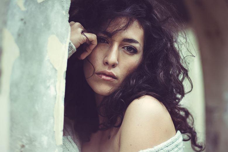 Close Up Portrait Photo by Model Alessandra Giulia