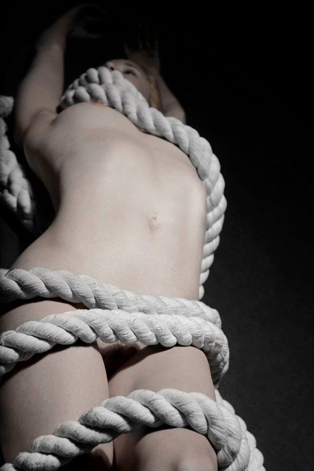 Clothed in rope Artistic Nude Photo by Model Em Theresa