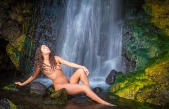 Coastal Waterfall Artistic Nude Photo by Photographer Inge Johnsson