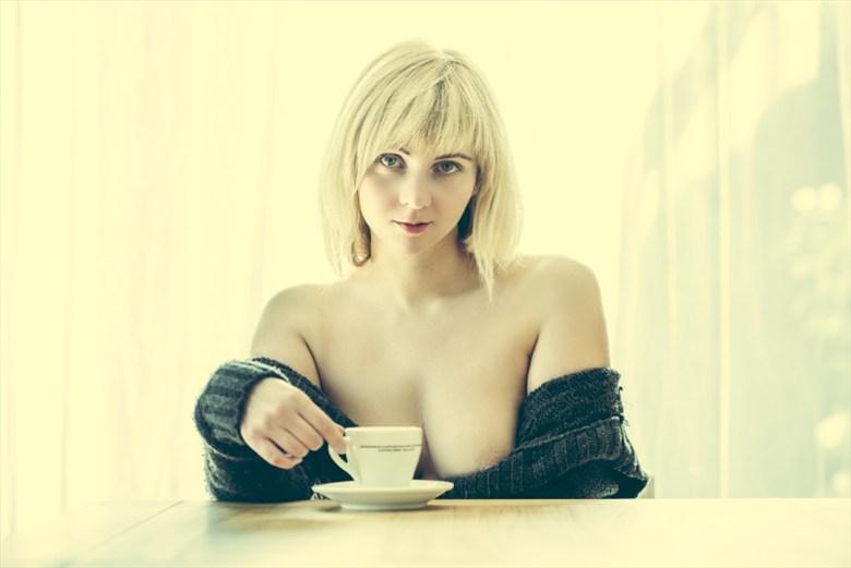 Coffee time Portrait Photo by Model Nika