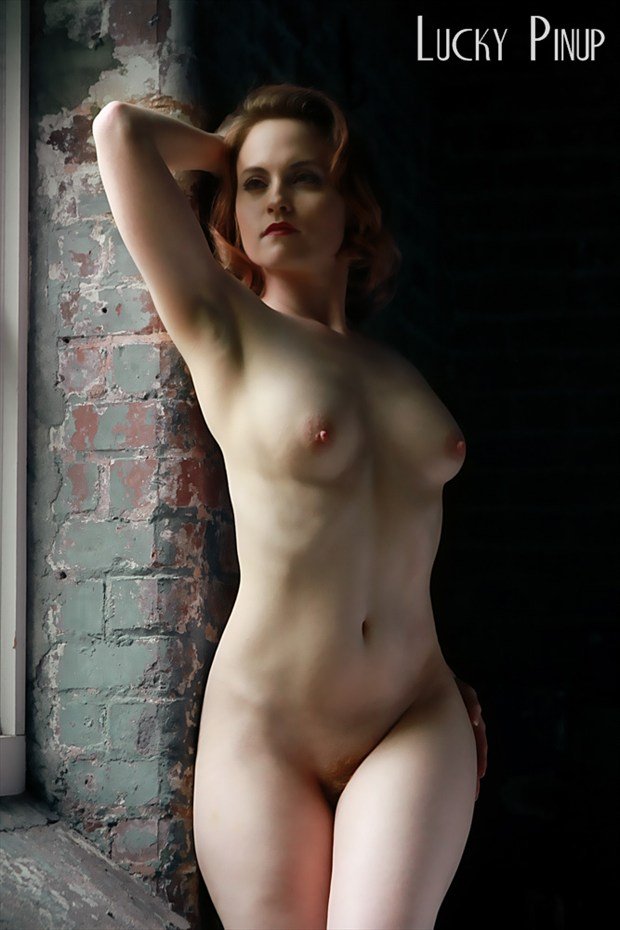 Copy right of Luck Pinup Artistic Nude Photo by Model AtenaMy