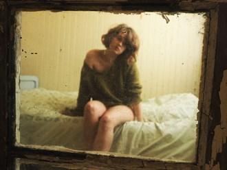 Copyright Henri Senders Implied Nude Artwork by Model Charlotte Blanco