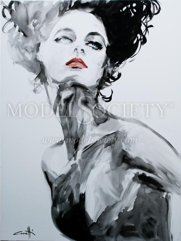 Cora Artistic Nude Artwork by Artist Michel Canetti