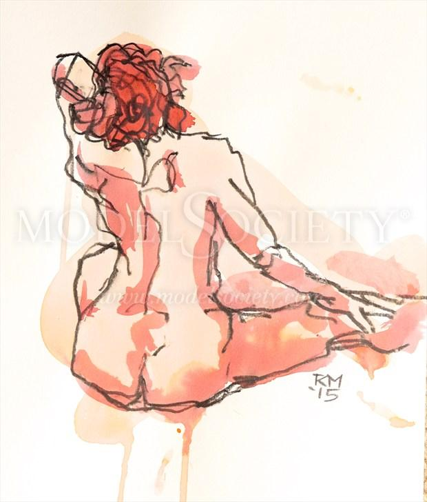 Coral Days Artistic Nude Artwork by Artist Rob MacGillivray