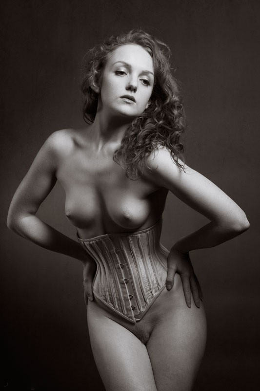 Corsetted Artistic Nude Photo by Photographer Mick Waghorne
