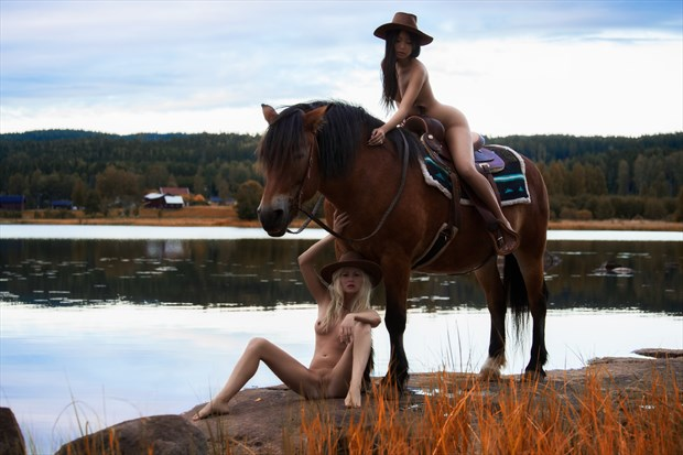 Cowgirls Artistic Nude Photo by Model Anna Johansson