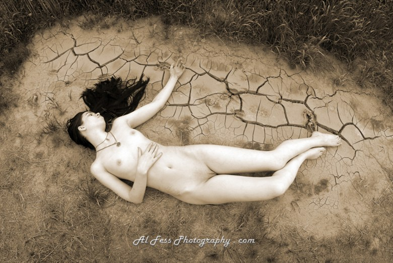Crackle Clay Artistic Nude Photo by Photographer Al Fess