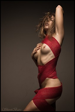 Crimson Bound Artistic Nude Photo by Model Pure Rebel
