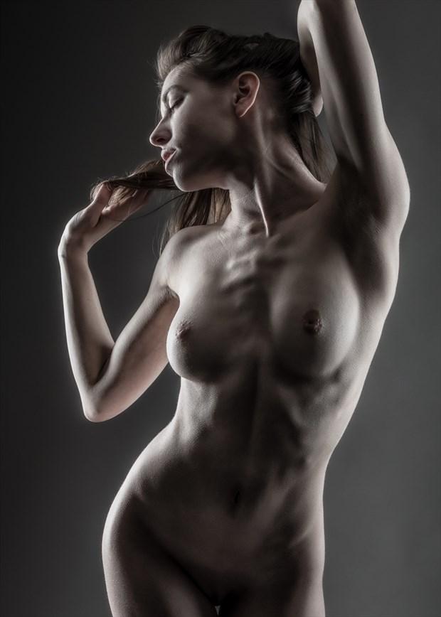 Cross Lit Torso Artistic Nude Photo by Photographer rick jolson