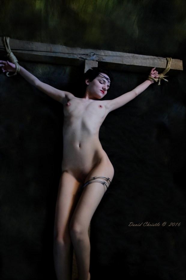 Cross to bare Artistic Nude Artwork by Model Diana Revo