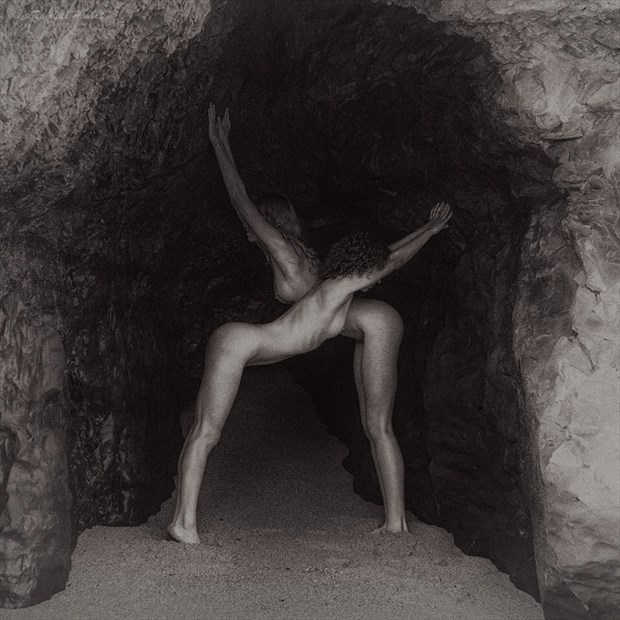 Crossing Hearts Artistic Nude Photo by Model California Kaela