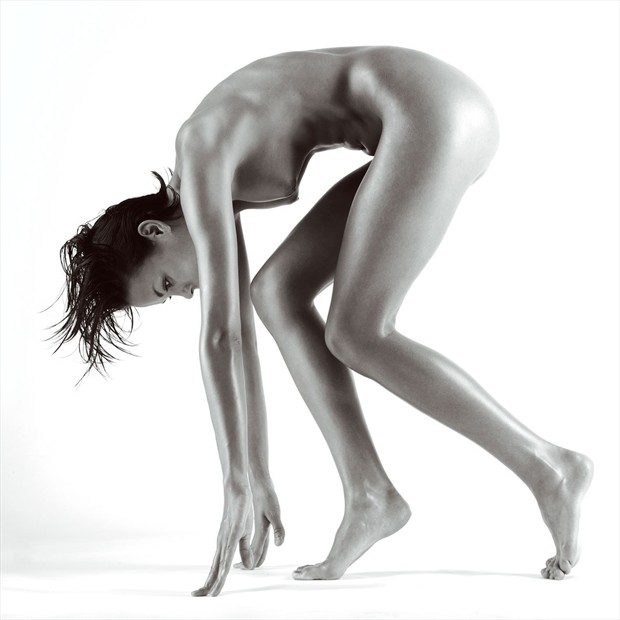 Crouch Artistic Nude Photo by Photographer John Evans