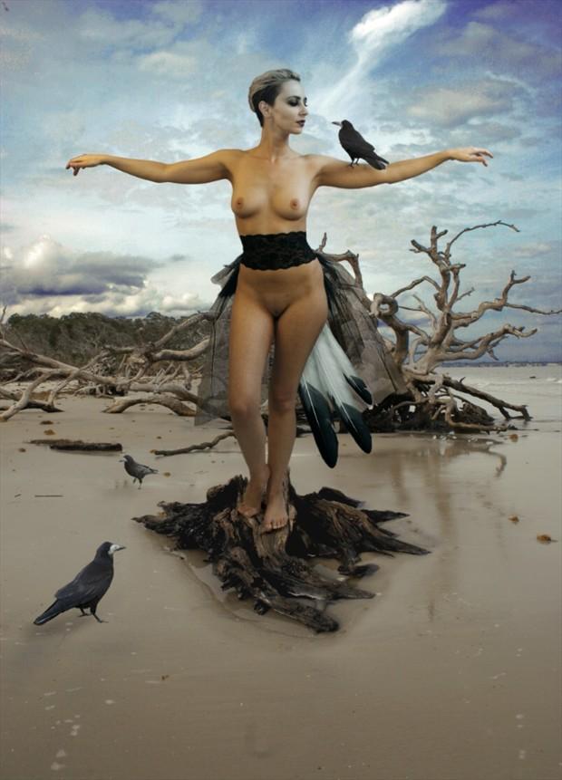 Crow Tango Artistic Nude Photo by Photographer Douglas Ross