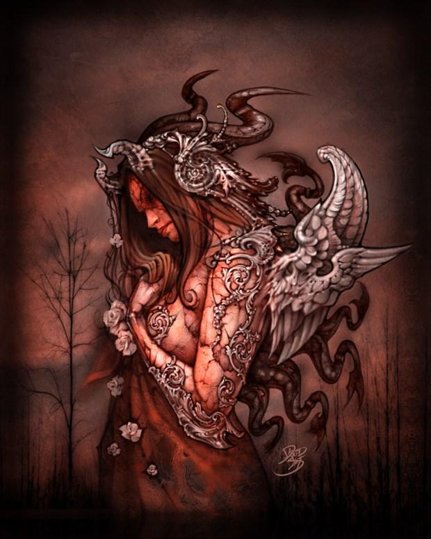 Cthluhu Princess (canvas) Fantasy Artwork by Artist David Bollt