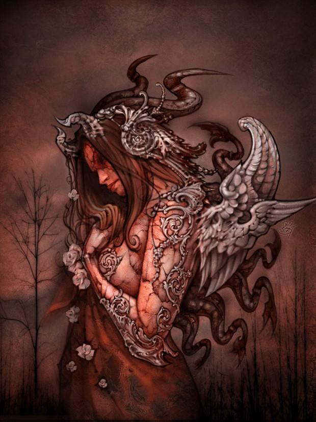 Cthluhu Princess Fantasy Artwork by Artist David Bollt