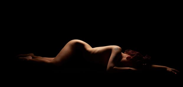 Curved Artistic Nude Photo by Model Aurora Red
