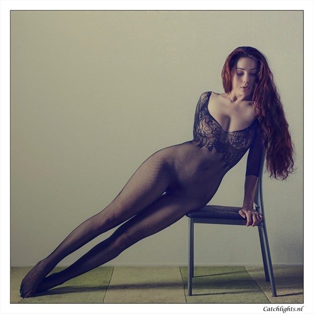 Curved catsuit Lingerie Photo by Model Joy Draiki