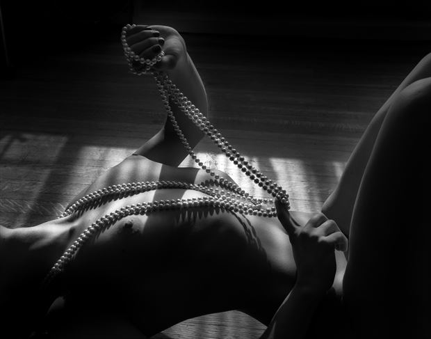 Dahlia with Pearls Artistic Nude Photo by Photographer Paul Anders