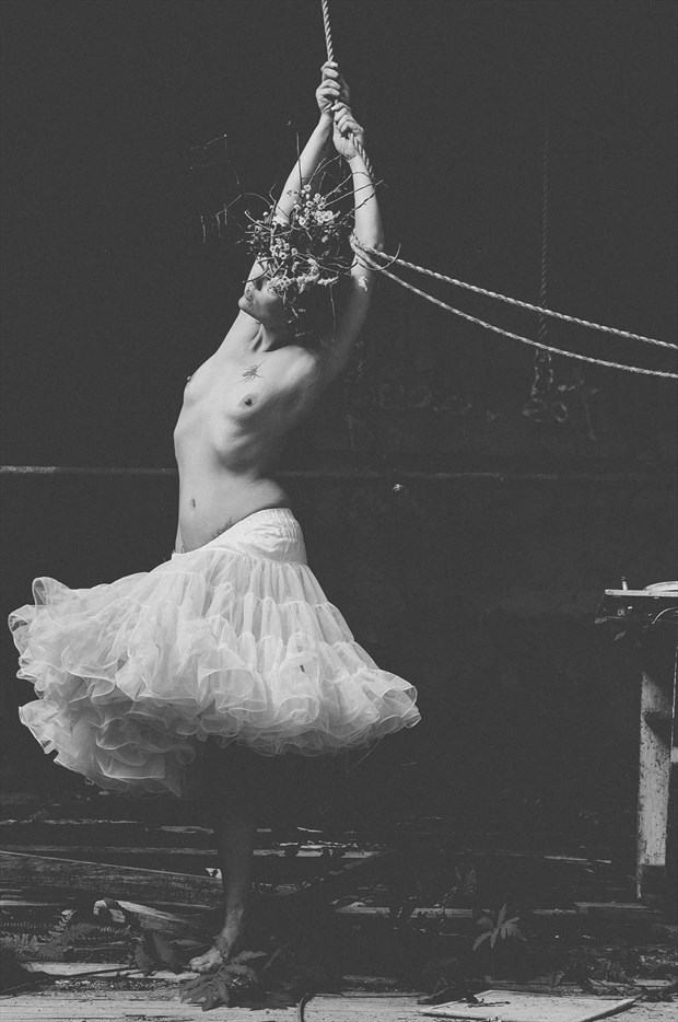 Dance in abandoned theater  Artistic Nude Artwork by Model Isabelvinson