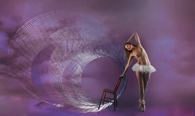 Dancer and Spiral Artistic Nude Photo by Photographer Ray Kirby