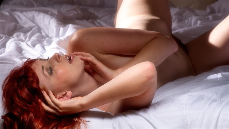 Dane On Bed Artistic Nude Photo by Photographer Phil O%60Donoghue