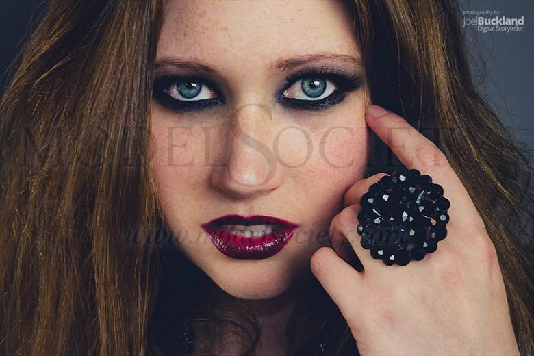 Dark Beauty Close Up Photo by Model Jaguar Louise