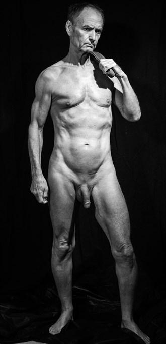 David Pose Front Chiaroscuro Photo by Model John Collins El Paso TX